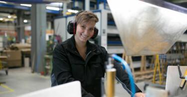 Auszubildender bei WSM als Konstruktionsmechanikerin