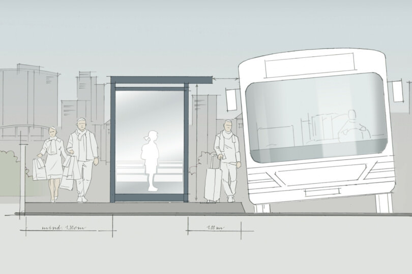 Bus/tram stop plan drawing