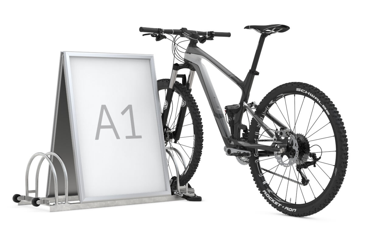 Advertising bike rack AW 5112