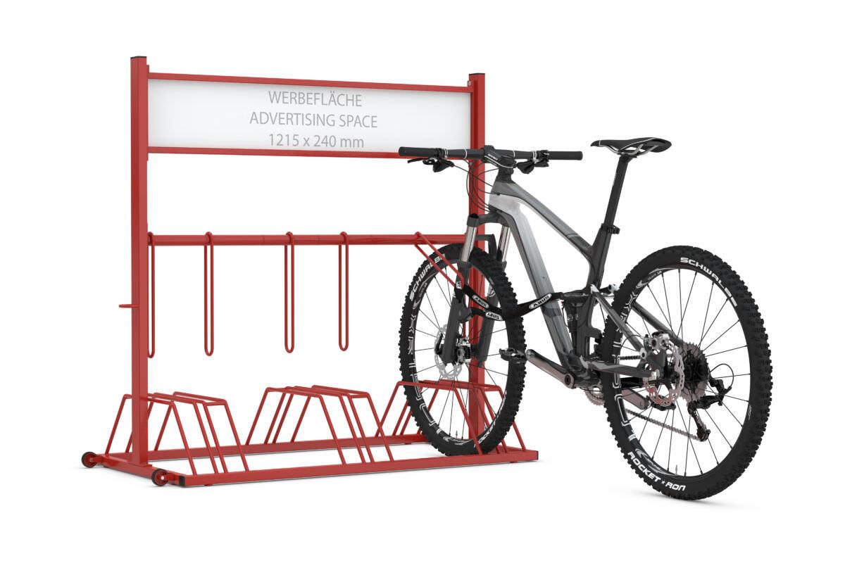 Advertising bike rack SECURITY STATION
