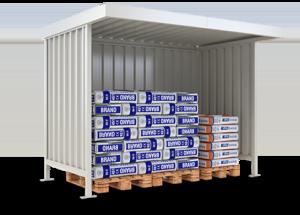 Lagerplatz-Überdachungen mit Flachdach und Metallwänden